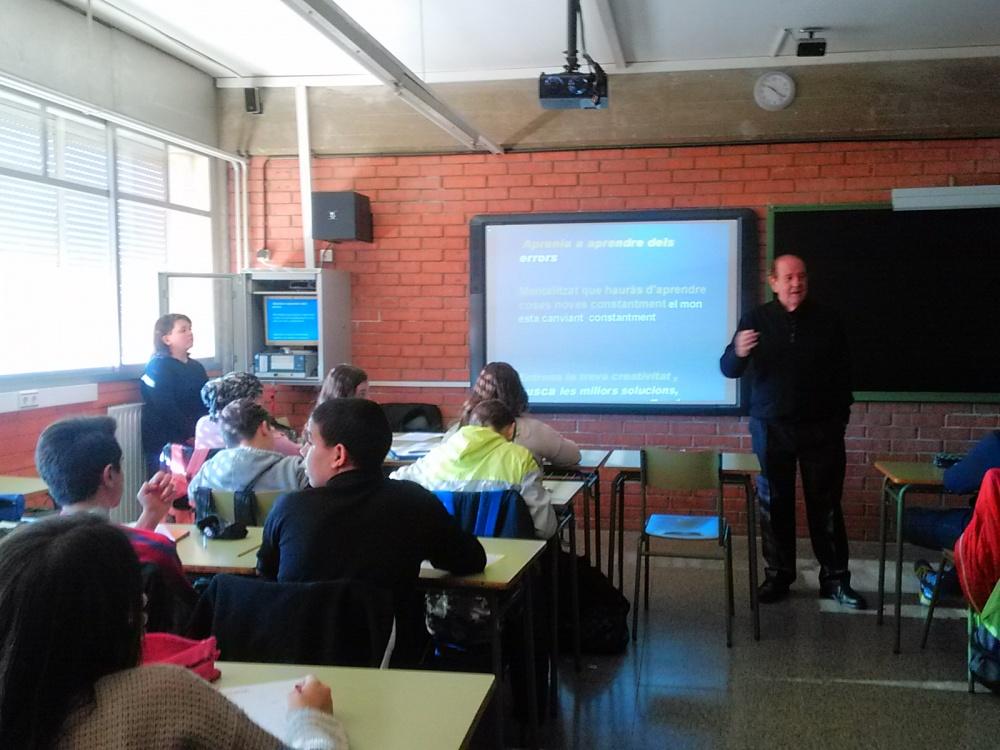 Xerrada sobre Emprenedoria per a 3r d'ESO a càrrec del psicòleg Jordi Balcells