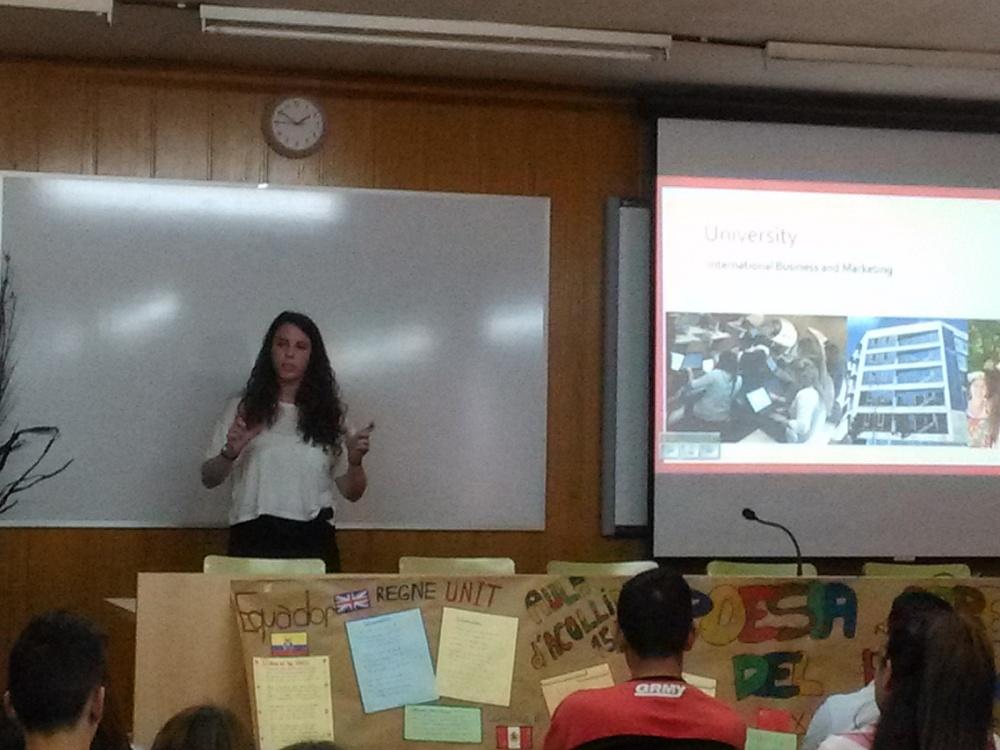Xerrada sobre Universitat i Erasmus a càrrec de l'exalumna Eva Gil