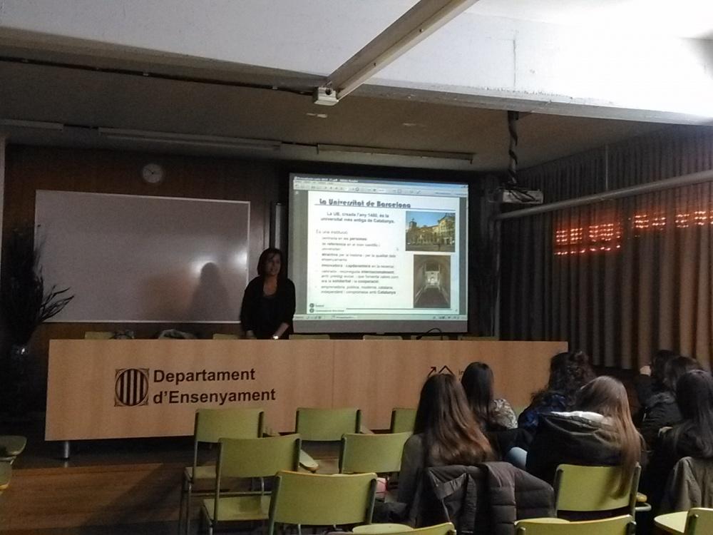 Xerrada sobre Orientació Universitària a càrrec de Universitat de Barcelona